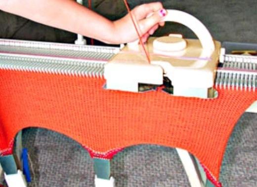 Вязание изделий на промышленных машинах