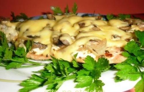 Рецепты приготовления отбивных с сыром и грибами