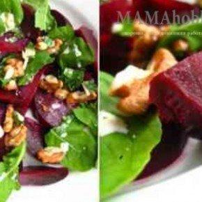 Свекольный салат с куриным филе
